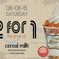 HoneyCreme Buy 1 Get 1 FREE 1-Day Promotion 6 Jun 2015