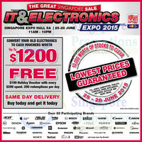 Read more about Great Singapore Sale IT & Electronics 2015 @ Singapore Expo 25 - 28 Jun 2015