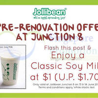 Read more about Jollibean $1 Classic Soy Milk Promo @ Junction 8 13 - 14 Jun 2015