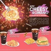 Read more about KFC NEW Cheesy Romano Chicken Bites & Burger 10 Jun 2015
