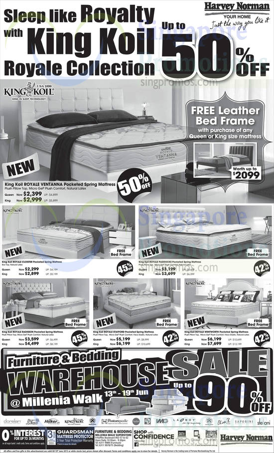 King Koil Royale Ventanna Mattress, King Koil Royale Cloister Mattress, King Koil Royale Paddocks Mattress, King Koil Royale Radisson Mattress, King Koil Royale Stafford Mattress, King Koil Royale Wentworth Mattress