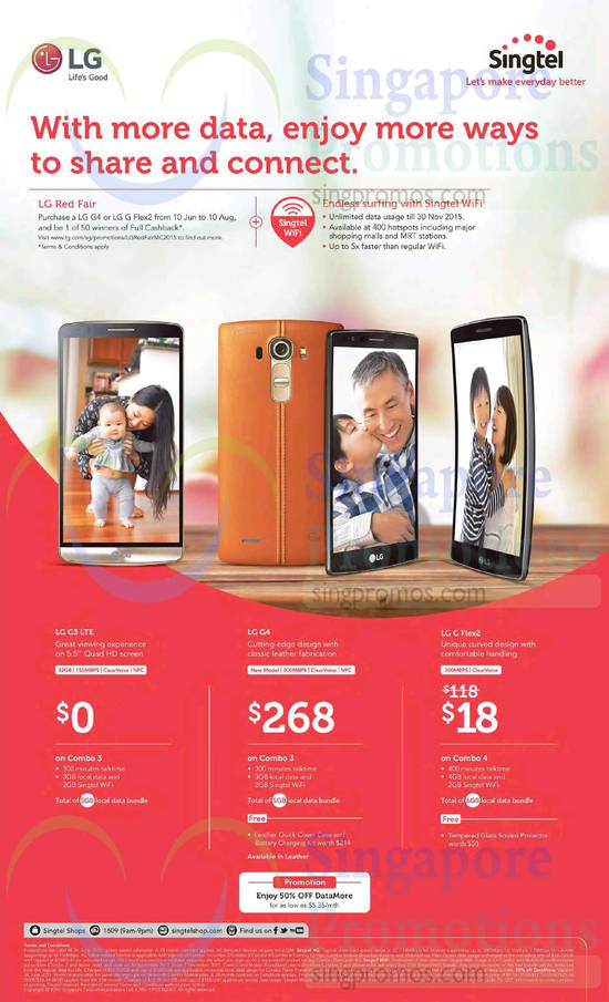 LG G3, LG G4, LG G Flex 2