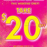 Read more about La Senza $20 OFF $100 Spend Off Storewide Promotion 19 - 21 Jun 2015