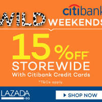 Read more about Lazada 15% Off Storewide With Citibank Cards (NO Min Spend) 15 - 16 Aug 2015