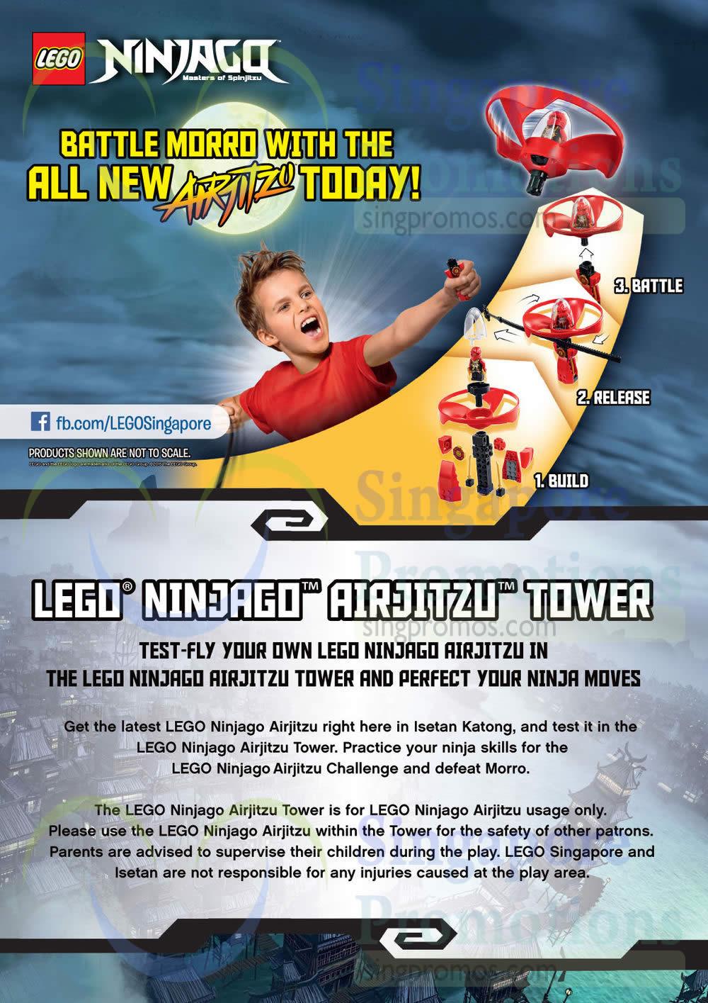 Lego Ninjago Airjitsu Tower, Isetan Katong, Battle Morro, Toys, Lego Ninjago Airjitsu Challenge