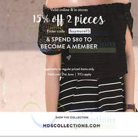Read more about MDS Collections 15% OFF Storewide Promo 9 - 21 Jun 2015