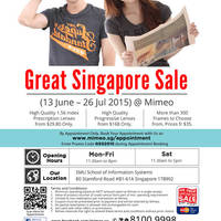 Read more about Mimeo Optical Shop GSS Promotion @ SMU 18 Jun - 26 Jul 2015