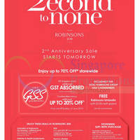 Read more about Robinsons 2nd Anniversary Sale @ Jem 18 Jun 2015