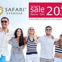 Safari Eyewear Mid Season Storewide 20% Sale 3 Jun - 26 Jul 2015