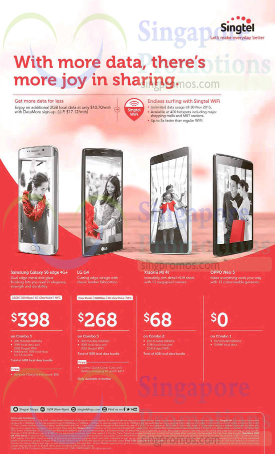 Samsung Galaxy S6 Edge, LG G4, Xiaomi Mi 4i, Oppo Neo 5
