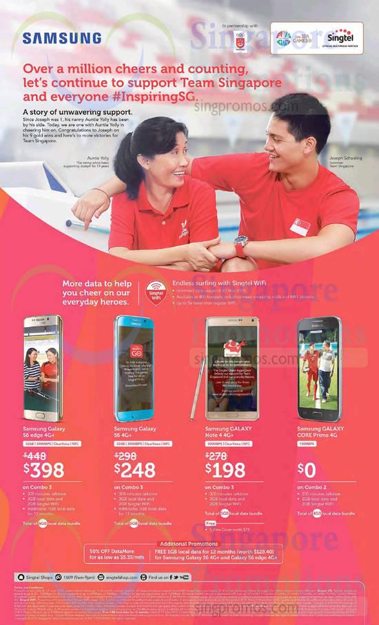 Samsung Galaxy S6 Edge, Samsung Galaxy S6, Samsung Galaxy Note 4, Samsung Galaxy Galaxy Core Prime