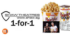 M1 customers enjoy 1-for-1 Shaw Theatres movie tickets on Sundays from 28 Jun 2015