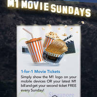 Read more about Shaw Theatres 1 for 1 Tickets For M1 Customers (Sundays) From 28 Jun 2015