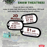 Read more about Shaw Theatres SAF Day Promotions For SAF Personnel 29 Jun - 3 Jul 2015