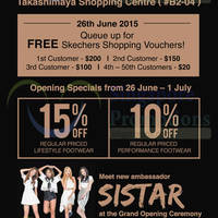 Read more about Skechers FREE Vouchers Giveaway @ Takashimaya S.C. 26 Jun 2015