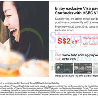 Read more about Starbucks $2 Off Any Beverage For HSBC Cardmembers 6 - 30 Jun 2015