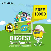 Read more about Starhub FREE 100GB Data With New Prepaid SIM Card Activation 7 Jun 2015