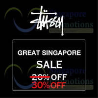 Read more about Stussy 30% Off Great Singapore Sale 22 - 30 Jun 2015