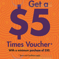 Read more about Times Bookstore Spend $50 & Get $5 Voucher @ Centrepoint 21 - 28 Jun 2015