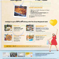 Read more about Todai 1 for 1 International Lunch Buffet For Maybank Cardmembers (Weekdays) 17 - 30 Jun 2015