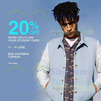 Read more about Topman & Ben Sherman 20% Off Storewide For Students 11 - 14 Jun 2015