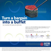 Read more about UOB Cardmember Spend $1,500 & Get FREE Buffet & Champagne Drink 6 Jun - 27 Jul 2015