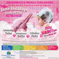 Read more about Underwater World $19.90 for Admission, Buffet & Perks 5 - 28 Jun 2015