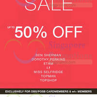 Read more about Ben Sherman, Dorothy Perkins, Etam, Miss Selfridge, Topman, Topshop Sale 26 Jun 2015