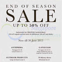 Read more about Anteprima, G-Star Raw, 33 Thirty Three & Outdoor Products SALE 6 - 30 Jun 2015