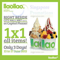 Read more about llaollao 1 for 1 Storewide Promotion @ Capitol Piazza 15 - 17 Jun 2015