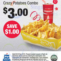 Long John Silver's Dine-in/Takeaway Discount Coupons 29 Jul - 20 Sep 2015