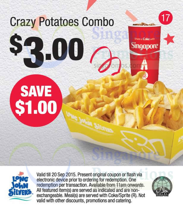 (17) 3.00 Crazy Potatoes Combo