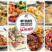49 Seats $4.90 Pastas (usual up to $16.90) Storewide (Wkdays) @ Bugis+ 9 - 17 Jul 2015