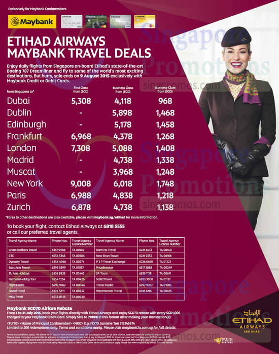 7 Jul Etihad Airways Travel Deals