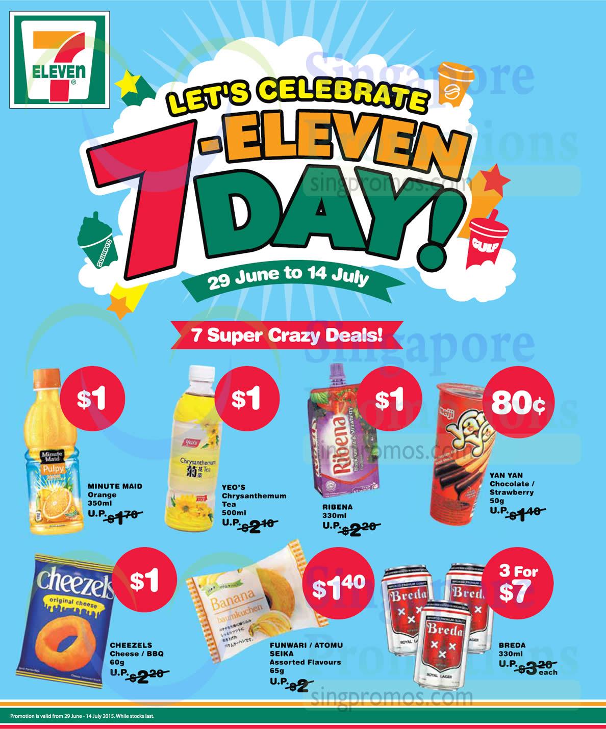 7 super Crazy Deals Orange Drink, Tea, Fruit Juice, Chocolate, Cheezels