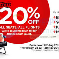 Read more about Air Asia 20% Off All Seats All Flights Promo 27 Jul - 2 Aug 2015