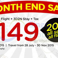 Read more about Air Asia Go 3D2N Stay fr $149 (Return Flight, Stay & Taxes inc) Month End Sale 27 Jul - 2 Aug 2015