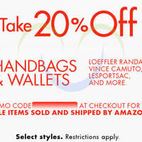 Read more about Amazon.com 20% OFF Handbags & Wallets (NO Min Spend) Coupon Code 17 - 21 Jul 2015
