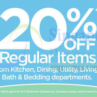 Read more about BHG 20% Off Selected Item Ranges 10 - 12 Jul 2015