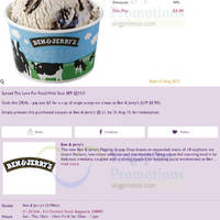 Read more about Ben & Jerry's 50% OFF Ice Cream @ 313 Somerset 17 Jul - 31 Aug 2015