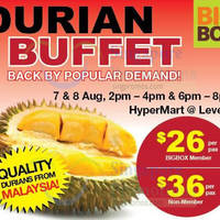 Read more about Big Box Durian Buffet 7 - 8 Aug 2015