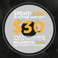 Read more about Billabong Spend $130 & Get $30 Off 8 Jul 2015