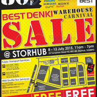 Best Denki Warehouse Carnival Sale @ Storhub 8 - 12 Jul 2015