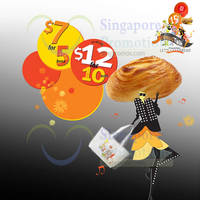 Read more about BreadTalk $7 for 5 Buns & $12 for 10 Buns Promo 23 - 27 Jul 2015