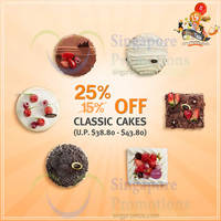 Read more about BreadTalk 25% Off Whole Classic Cakes 28 - 31 Jul 2015