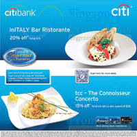 Read more about inITALY Bar Ristorante & tcc - The Connoisseur Concerto For Citibank Cardmembers 12 Jul 2015