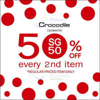 Read more about Crocodile 50% Off 2nd Item Promo 27 Jul - 31 Aug 2015