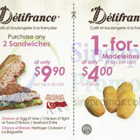 Delifrance Discount Coupons 29 Jul - 10 Sep 2015