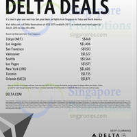 Read more about Delta Air Lines Promo Fares 20 Jul - 30 Sep 2015