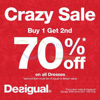 Read more about Desigual 70% Off 2nd Dress @ IMM 22 Jul - 11 Aug 2015